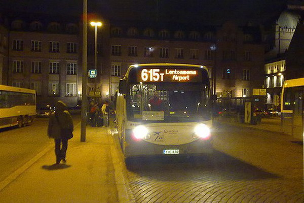 Автобус из аэропорта Хельсинки