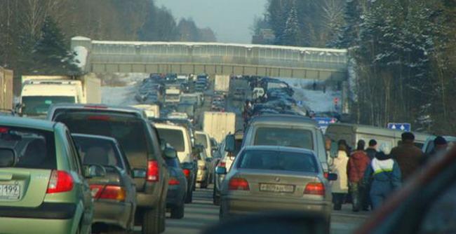 Пробки на границе с Финляндией